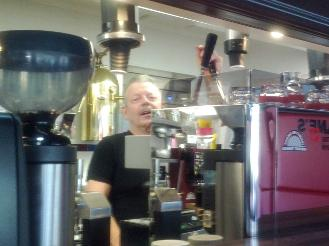 Alan Preston with Lever Handle Espresso Machine